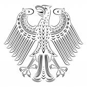 Vector black and white coat of arms of Germany