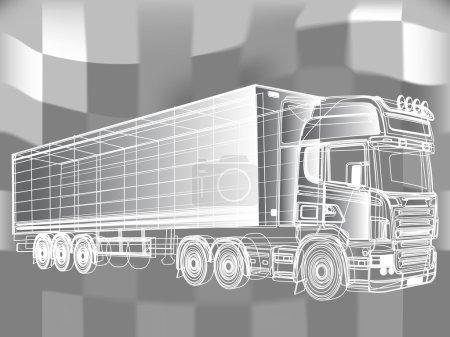 Illustration pour Lignes peintes en noir et blanc. Illustration vectorielle du dessin . - image libre de droit
