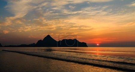 Sunrise time at Ao manow, Thailand. Soft focus.