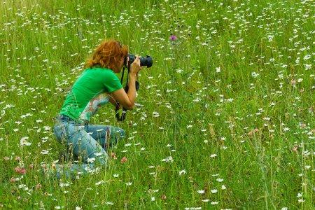Nature photographer woman