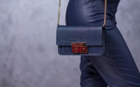 Bags fashion trends. Close up of gorgeous stylish bag. Fashionab