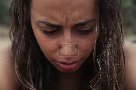 Photo for Crying Beauty Girl. Beautiful Model Woman Cry. Tears - Royalty Free Image