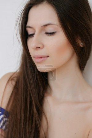 Beautiful Young Woman  Clean Fresh close up