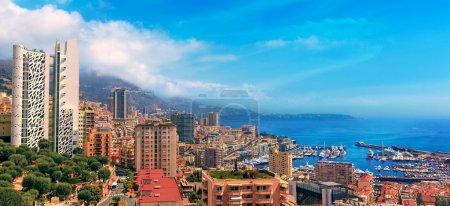 View over Monaco harbour, Cote dAzur