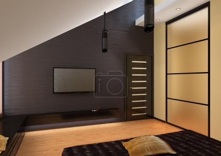 render of apartment living room
