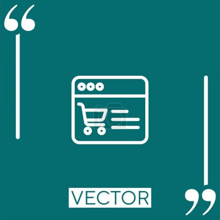 Online shop    vector icon Linear icon. Editable s...