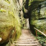 narrow path in Skalne Mesto Ardspach Czech Republic