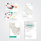 Vector brochure cover design templates with abstract geometric triangular and circle backgrounds for your business EPS10