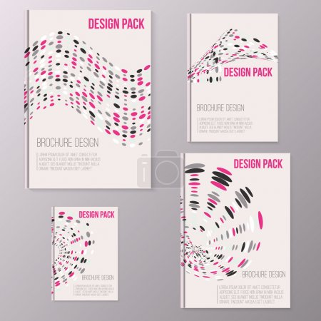 Set of Vector brochure cover design templates with abstract geometric shapes and circle backgrounds in flat style for your business. EPS10
