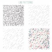 Vector hand drawn set of stylish line patterns