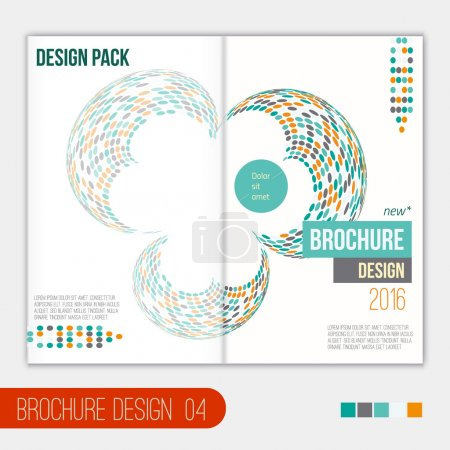 Vector modern brochure cover design template with abstract geometric shape in flat style for your business.