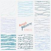 Vector hand drawn set of stylish line brush patterns EPS10