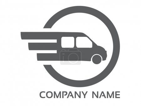 Photo for Transport logo for company, programs, web etc. - Royalty Free Image