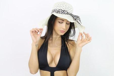 Beautiful woman wearing a sexy bikini
