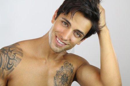 sexy man smiling