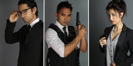 three secret agents