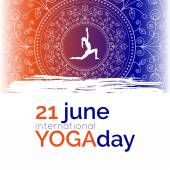 Template of poster for International Yoga Day