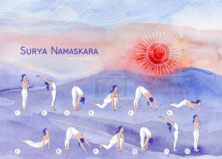 girl in yoga asanas