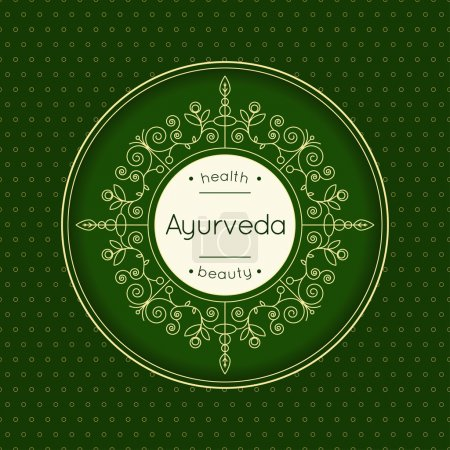 Elegant poster for Ayurved clinic or ayurvedic center.