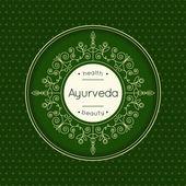 Elegant poster for Ayurved clinic or ayurvedic center.