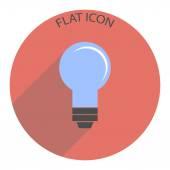 Icon lightbulb. Vector illustration
