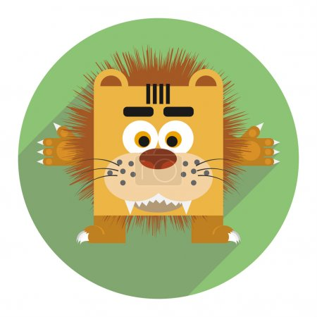 Icon of cute lion.