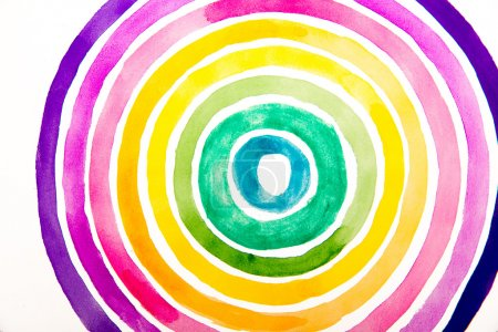 Photo pour Beau cercle d'aquarelle. Illustration vectorielle - image libre de droit