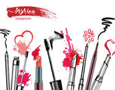 Cosmetics and fashion background