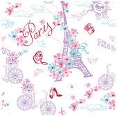 """Постер, картина, фотообои """"Романтическое путешествие в Париж."""""""