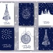 Set Of Christmas And New Year Greeting Cards with ...