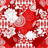 vector seamless patchwork pattern oriental or russian design