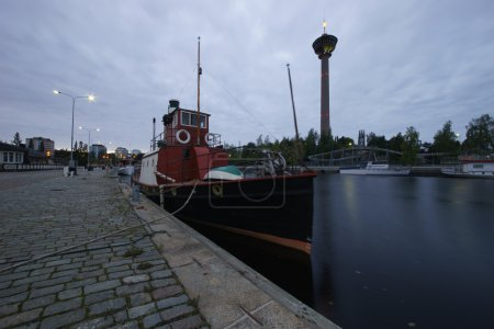 Moored boat, Finland