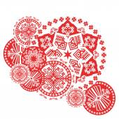 Nordic Round Vector Pattern
