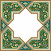Arabesque modello con ornamento dettagliata