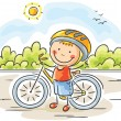 Little boy and his bike...