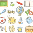 Set of 16 school thing representing different scho...