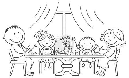 Photo pour Joyeux repas en famille - image libre de droit