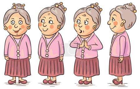 Cartoon grandmother