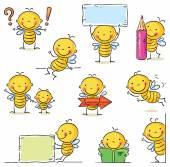 Bee cartoon character