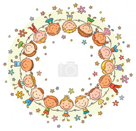 Happy Kids in a Circle