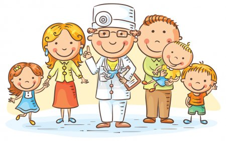 Cartoon Family Doctor