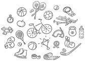 Set of cartoon sport Things vector
