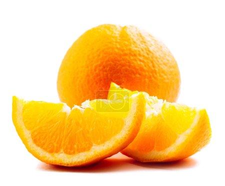Photo pour Orange isolé sur blanc - image libre de droit