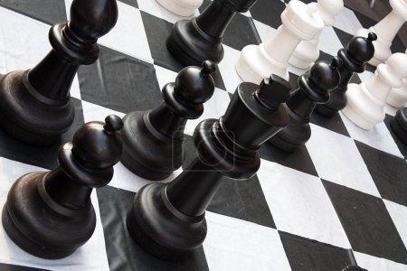 Chessboard during a game