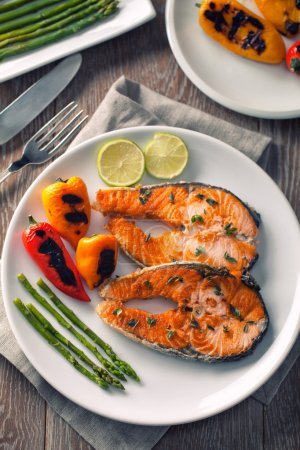 Salmon with mixed vegetables