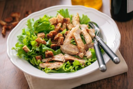 Photo for Chicken Salad on white plate - Royalty Free Image