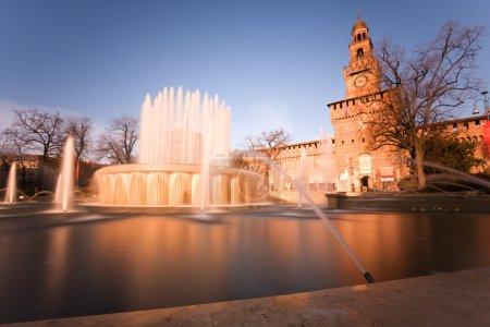 Castello Sforzesco in Milan,using nd filter to all...