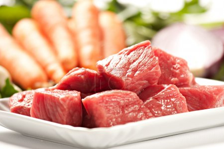 Photo for Raw Ingredients For A Traditional Beef Stew Recipe - Royalty Free Image