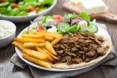 Greek Gyros with Fries