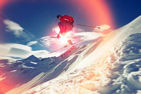 man on Skis jumping